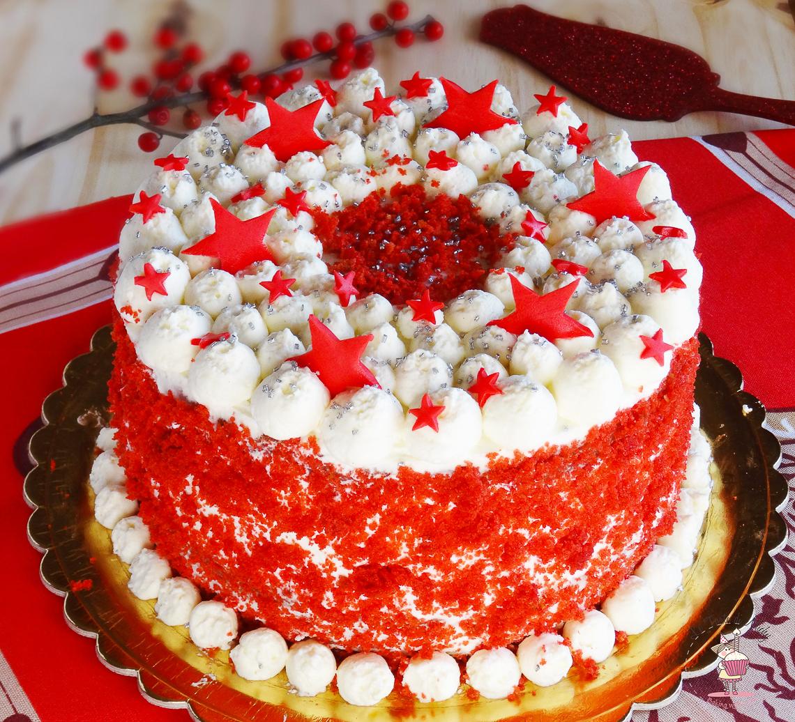 XMas Red Velvet Cake Large 2